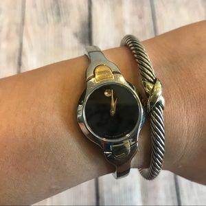Women Movado bangle bracelet watch